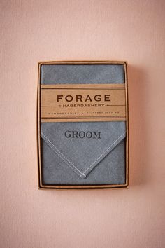 groom's gift idea handcrafted by Forage Haberdasher | Groom Kerchief from BHLDN