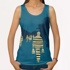 attraction All Over Print Tanks by junillu