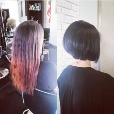 What an update! This trendy on point bob was just the thing! Hair by Marlo #pureformsalon #yyc #beauty #haircut #hairstyle #colour