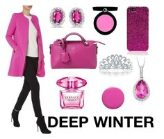 DEEP WINTER by camilavillavicencio on Polyvore featuring Fendi, BillyTheTree, Bling Jewelry, Ross-Simons, Yves Saint Laurent, Armani Beauty, Versace and NARS Cosmetics