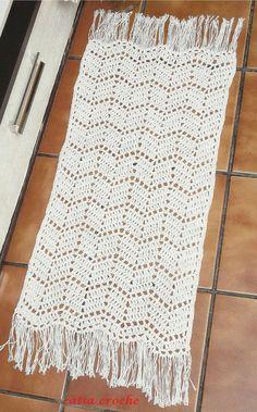 Resultado de imagem para receitas de tapetes de croche