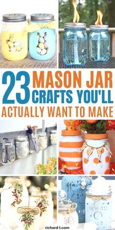 Creative Mason Jar DIY Ideas #masonjars #diymasonjar #masonjardecor