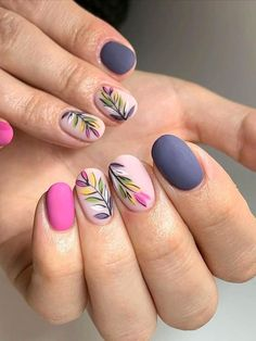 Flower Nail Designs, Best Nail Art Designs, Nail Designs Spring, Popular Nail Designs, Flower Nail Art, Spring Nail Art, Spring Nail Colors, Spring Nails, Summer Nails