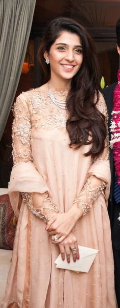 Embellished lace sleeves by Seher Tareen