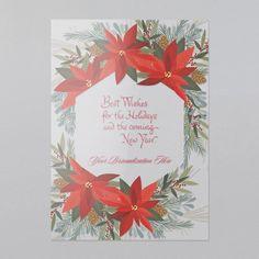 Poinsettia Fun Holiday Cards, Christmas Cards, Poinsettia, Greenery, Wreaths, Frame, Fun, Christian Christmas Cards, Christmas E Cards