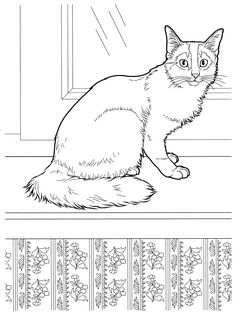 cat_11 Cats coloring pages for teens and adults