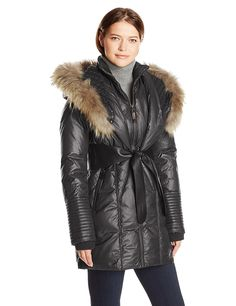 RUDSAK Women's Sophie Down Coat with Leather Belt ** Check out the image by visiting the link.