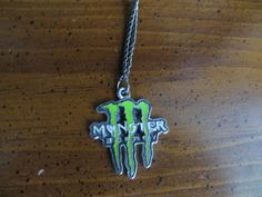 Get this one of a kind monster energy necklace in green. This comes on a black chain with lobster claps. Monster Energy Gear, Monster Energy Girls, Love Monster, Weird Jewelry, Cute Jewelry, Jewlery, Fox Racing Logo, Grunge Jewelry, Fairytale Fashion