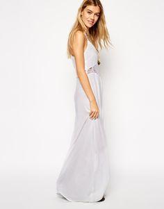 Lace Insert Maxi Beach Dress /