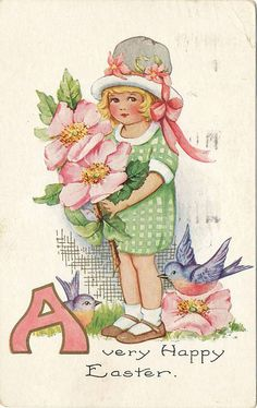 A very Happy Easter vintage image.