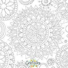 Раскраска мандала с цветочным мотивом