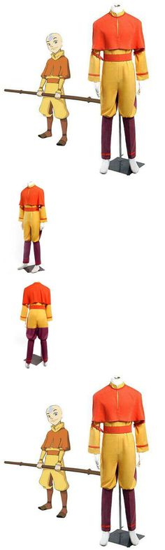 Unisex 86207: New Custom-Made Avatar The Last Airbender Aang Cosplay Costume -> BUY IT NOW ONLY: $57.91 on eBay!