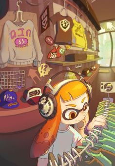 Picking out meh clothes! #Splatoon