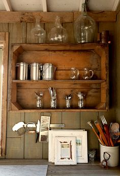 I knew I wanted to keep those oversized wooden crates for something... great idea! @Marisa Burkhardt