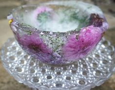 Ice Decor – Make shot glasses; ice candles; beautiful bowl out of ice and flowers; herbs and edible flowers in gorgeous ice cubes; winter decorations by freezing berries in ice.