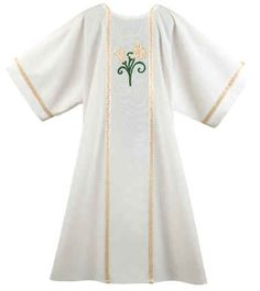 Lilly with Galoon on White Dalmatic