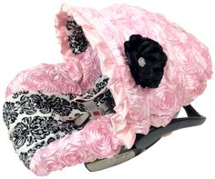 Love this but I my WOW $134 just for the cover? 3D Roses Princess Black Damask Infant Car Seat Cover.