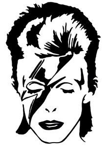 A David Bowie cross-stitch pattern created by me. Can't wait until I have time to finish this project! Bowie Ziggy Stardust, David Bowie Ziggy, Stencil Patterns, Stencil Art, Stenciling, Pop Art, 3d Templates, Silhouette Art, Vinyl Decals