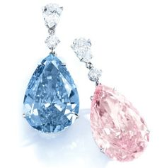 The diamonds formerly known as the Apollo Blue and Artemis Pink are now officially the world's most valuable earrings.  The mismatched duo, a 14.54 ct. fancy vivid blue and 16 ct. fancy intense pink, sold for $57.2 million at Sotheby's May 16 jewelry auction in Geneva, Switzerland.