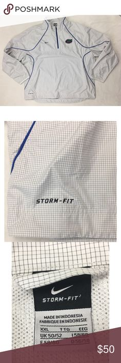 """NIKE Storm Fit Gators Vented Pullover Windbreaker Florida Gators StormFit Pullover Jacket Size XXL Pit to pit 30"""" Length 30"""" In excellent condition  Fast Shipping! Nike Jackets & Coats Windbreakers"""