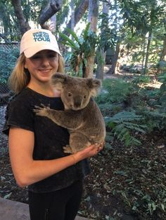 Chloe with a koala!