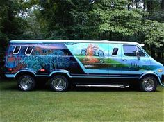 Fans of custom vans Customised Vans, Custom Vans, Dodge Trucks, Pickup Trucks, Dodge Van, Old School Vans, Vanz, Day Van, Cool Vans