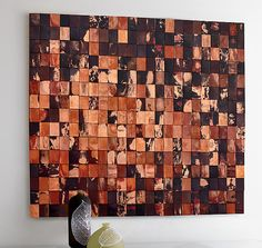 Mars Returns: Anne Moran and Robert A. Brown: Metal Wall Art, torched copper - Artful Home