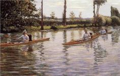 The Canoe  - Gustave Caillebotte