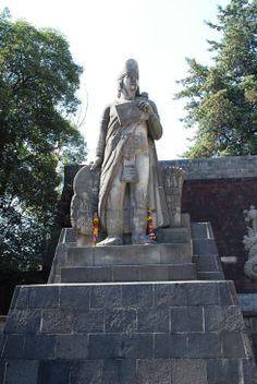 Monument to Nezahualcoyotl in Mexico City