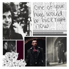 """""""Sebastian Stan // Mad Hatter"""" by whereisnet ❤ liked on Polyvore featuring art, cute, blackandwhite, madhatter, SebastianStan and TheWinterSoldier"""