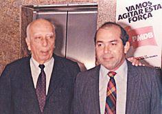 Eliseu Padilha em campanha com Ulysses para Presidente da República, em 1989