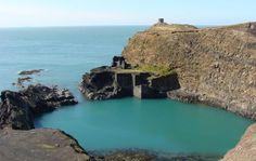 The breathtaking Abereiddi Blue Lagoon, Pembrokeshire