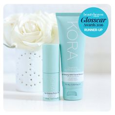 We are so pleased to announce our Age-Defying Phytox Oil and Age-Defying AHA Facial Exfoliator were runner's up in @beautyheaven's Glosscar Awards for Best New Facial Oil and Best New Age Management Product. It's also your last chance to purchase the two product as a Limited Edition Age-Defying Duo set at koraorganics.com xxx #KORAOrganics #LimitedEdition #Glosscars2016