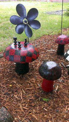 My concrete mushrooms
