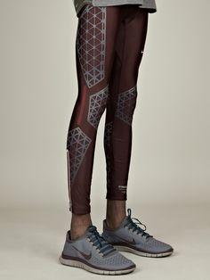 Nike Gyakusou Men's Swift Long Leggings in deep burgundy at oki-ni
