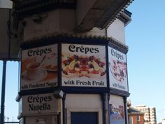Crepe stand on South Parade Pier, Portsmouth.