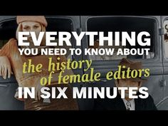 Watch: Everything You Need to Know About the History of Female Editors in Six Minutes Film School, Editor, Everything, Need To Know, Future, Watch, Female, History, Future Tense