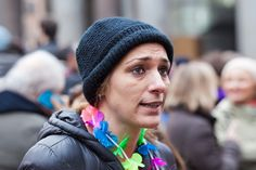 Protester rainbow - Rome, Italy - 23 January 2016: Svegliatitalia, demonstration in Piazza della Rotonda in favor of the civil rights of homosexual couples. In the scene, one of the demonstrators taken while participating.