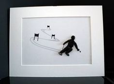 A stone image - kind of Pebble - skiers A beautiful gift for any occasion, especially for skiers. My stone images are always unique and so distinctive, they are made from Beach stones and pebbles. The image is worked on hardboard and cardboard and fitted with a Passeportout. The image