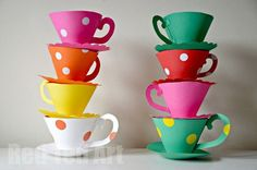 DIY Free Printable Tea Cups by Red Ted Art - Plaid Online
