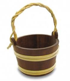 This 7L Sauna Thermowood Bucket is hand made in Finland with Heat Treated wood.