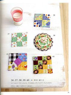 Japanese patchwork book coasters by Tokyo Ties, via Flickr