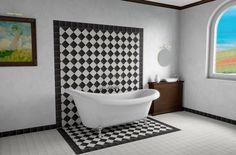 Фотобанк Грета Вульф - Ванная, туалет | Пол и стена | Метлахская плитка…