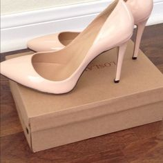 """Selling this """"Nude Patent Leather Pumps"""" in my Poshmark closet! My username is: kasey813. #shopmycloset #poshmark #fashion #shopping #style #forsale #Shoes"""