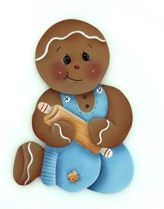 HP GINGERBREAD FRIDGE MAGNET blue