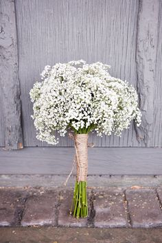 Babys-Breath-Bouquet. These are my favorite wedding flowers ever