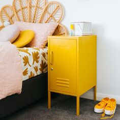 Mustard Lockers are created by two girls living on the opposite sides of the planet but they haven't let that stand in the way of a beautiful product. A practical storage solution that looks fabulous and is ready for whatever you need to throw at it. Small Lockers, Mustard Bedding, Mobile Shelving, Office Shelving, Plastic Shelves, Gondola Shelving, Little Girl Rooms, Wood Shelves, Adjustable Shelving