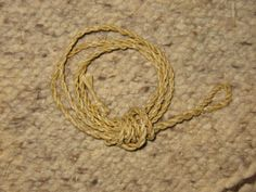 Primitive Bow String Making