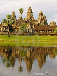 """One of the most significant symbols of Cambodia, embroidered on its flag, Angkor Wat is the ultimate place for history lovers. The """"city of temple"""" will fascinate you with its atypically oriented to west sanctuaries Sculpture Ornementale, Angkor Vat, Places To Travel, Places To See, Laos, Angkor Wat Cambodia, Destinations, Ancient Architecture, Gothic Architecture"""