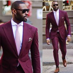 A hundered Yeses to the Marsala suit. Perfect wedding/party guest look.  @groominspiration #wedding #party #guest #suitandtie